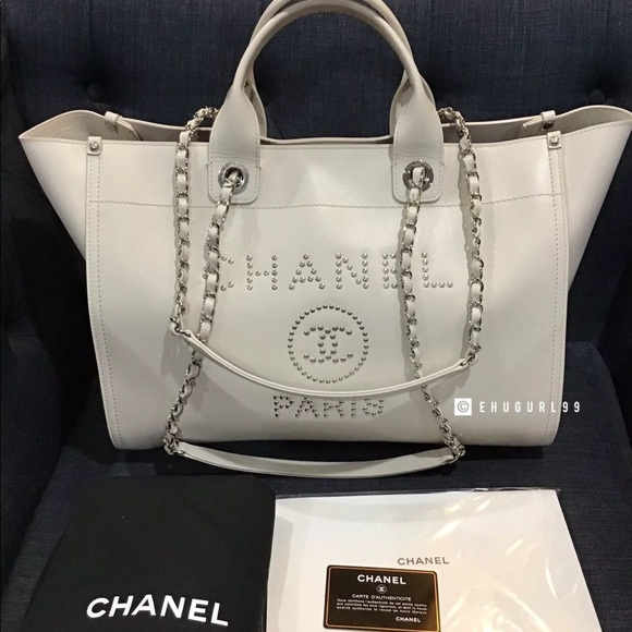 e402fbd672c4 CHANEL Bags | Lg Shopping 30 Cm Studded Deauville Tote | Poshmark